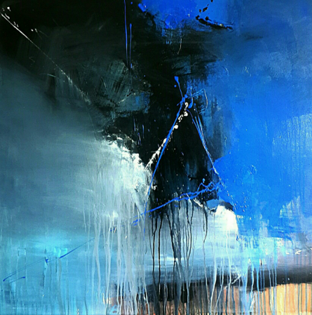Gulrez Ali | Acrylic Painting title Space 57 on Canvas | Artist Gulrez Ali Gallery | ArtZolo.com