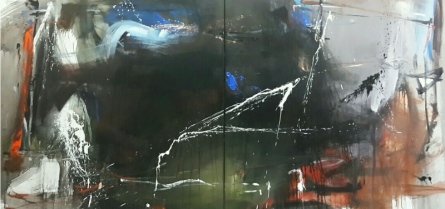 Space 25 | Painting by artist Gulrez Ali | acrylic | Canvas