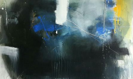 Gulrez Ali | Acrylic Painting title Space 98 on Canvas | Artist Gulrez Ali Gallery | ArtZolo.com