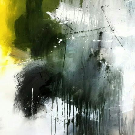 Gulrez Ali | Acrylic Painting title Space 55 on Canvas | Artist Gulrez Ali Gallery | ArtZolo.com