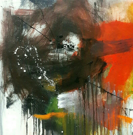 Abstract Acrylic Art Painting title 'Space 75' by artist Gulrez Ali
