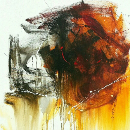 Abstract Acrylic Art Painting title 'Space 72' by artist Gulrez Ali