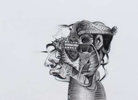 Figurative Pencil Art Drawing title 'Untitled 10' by artist Gopal Shinde