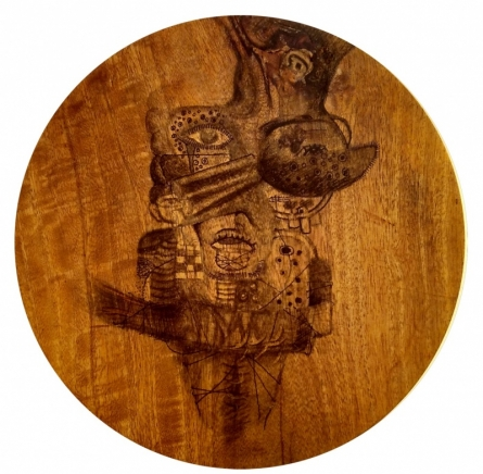 Untitled 6 | Drawing by artist Gopal Shinde |  | Pen&Ink | Wood