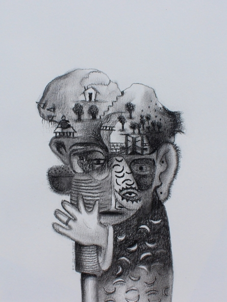 Pencil Paintings | Drawing title Untitled 8 on Paper | Artist Gopal Shinde