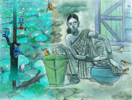 Migration Part 3 | Painting by artist Abhipsa Pradhan | acrylic | canvas