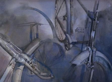 Realistic Watercolor Art Painting title 'My partner' by artist Ajay Dharmadhikari