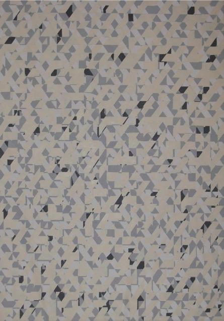 Triangle 3 | Painting by artist Nilesh Shaharkar | acrylic | canvas