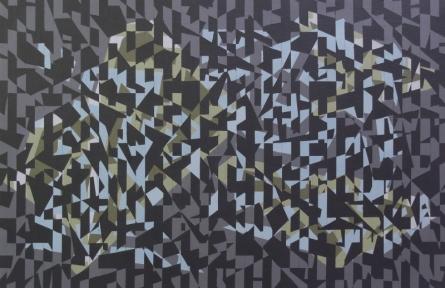 Triangle 7 | Painting by artist Nilesh Shaharkar | acrylic | canvas