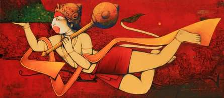 Lord Hanuman | Painting by artist Anand Panchal | acrylic | Canvas