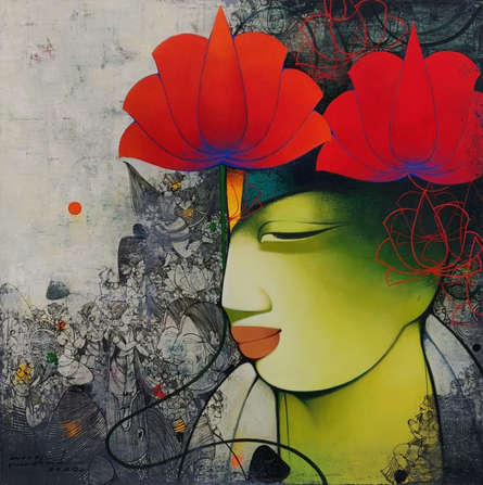 Figurative Acrylic Art Painting title 'Untitled 1' by artist Anand Panchal