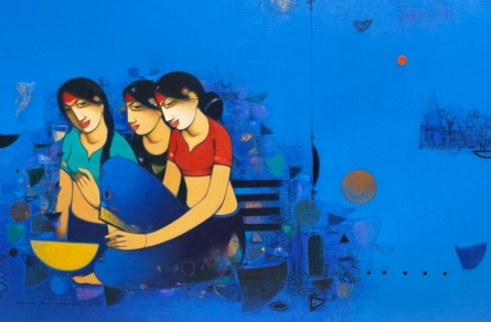 Figurative Acrylic Art Painting title Untitled 4 by artist Anand Panchal