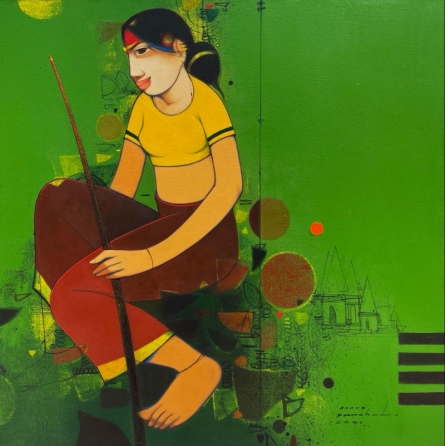 Figurative Acrylic Art Painting title Untitled 5 by artist Anand Panchal