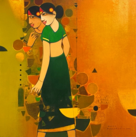 Figurative Acrylic Art Painting title Untitled 6 by artist Anand Panchal