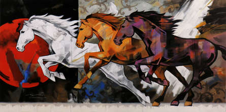#abstract #animal #horses #colourful