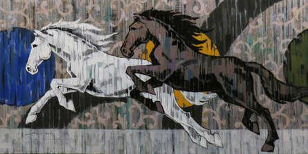 Animals Acrylic Art Painting title 'HORSE SERIES -157' by artist Devidas Dharmadhikari