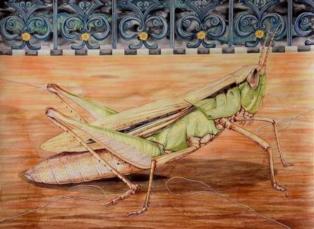Animals Watercolor Art Painting title 'His Greed Was His Undoing Series 2' by artist Sajith Puthukkalavattom