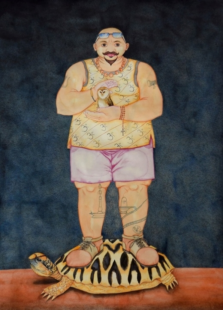 Figurative Mixed-media Art Painting title 'Men Should Be Disturbed To Survive In Th' by artist Sajith Puthukkalavattom