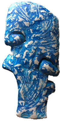 Fiberglass Sculpture titled 'Portreat 1' by artist Ashwam Salokhe