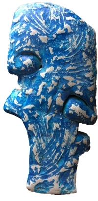 Ashwam Salokhe | Portreat 1 Sculpture by artist Ashwam Salokhe on Fiberglass | ArtZolo.com