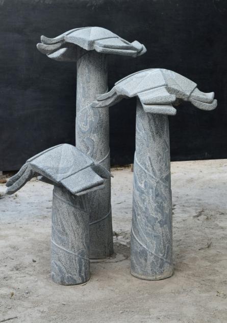 Marble Sculpture titled 'Childhood Memory' by artist Pankaj Gahlot