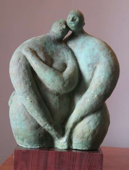 Bronze Sculpture titled 'Couple 1' by artist Shankar Ghosh