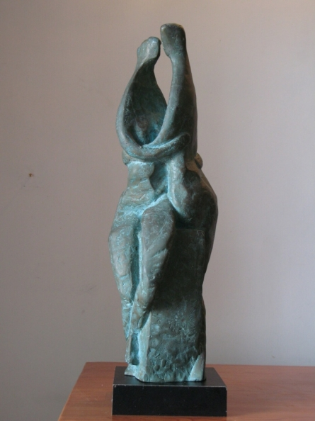 Bronze Sculpture titled 'Couple 3' by artist Shankar Ghosh