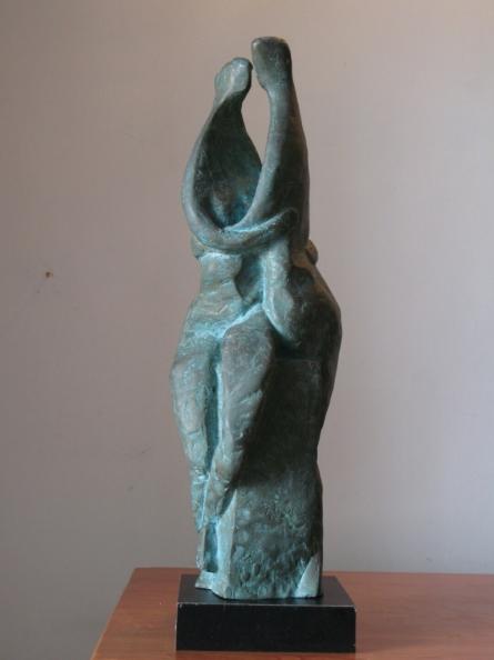 Couple 3 | Sculpture by artist Shankar Ghosh | Bronze