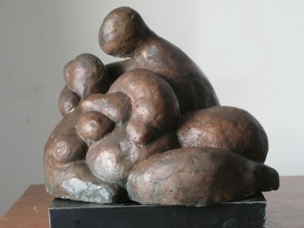Bronze Sculpture titled 'Lovers 3' by artist Shankar Ghosh