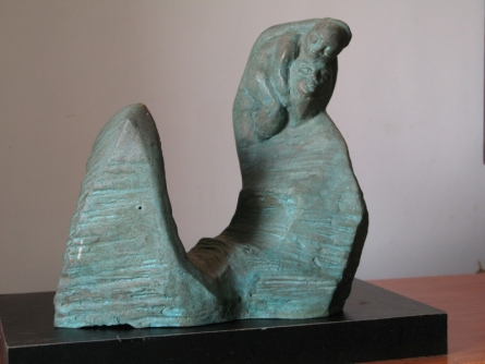 Bronze Sculpture titled 'Mother And Child 1' by artist Shankar Ghosh