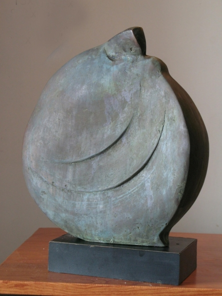 Bronze Sculpture titled 'Sitting Lady 1' by artist Shankar Ghosh