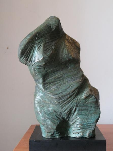 Bronze Sculpture titled 'Torso 4' by artist Shankar Ghosh