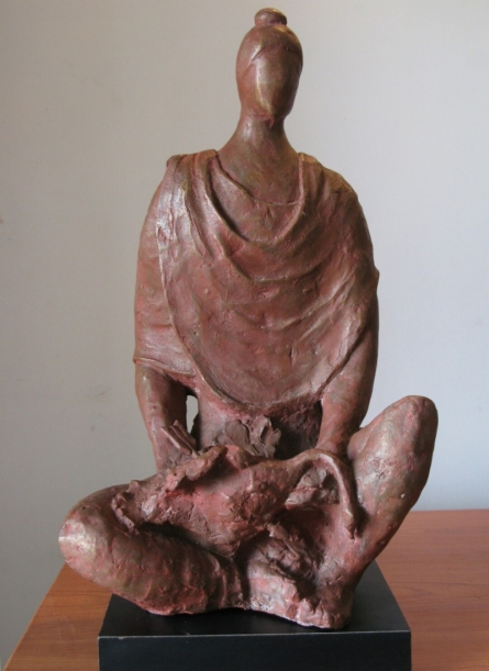 Bronze Sculpture titled 'Why Kill' by artist Shankar Ghosh