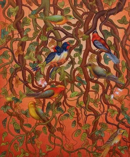 Bird Series | Painting by artist Roy K John | acrylic | Canvas