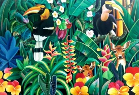 Nature Acrylic Art Painting title 'Nature 1' by artist Murali Nagapuzha