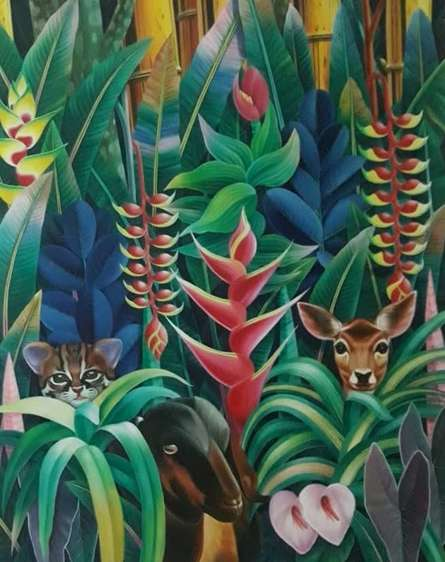 Nature Acrylic Art Painting title 'Nature 2' by artist Murali Nagapuzha