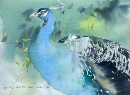 Animals Watercolor Art Painting title Untitled 26 by artist Dilip Dudhane