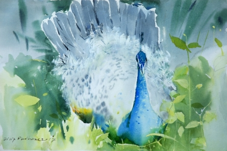 Animals Watercolor Art Painting title 'Untitled 29' by artist Dilip Dudhane