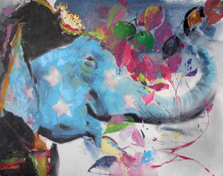Animals Acrylic Art Painting title 'Untitled 6' by artist Dilip Dudhane