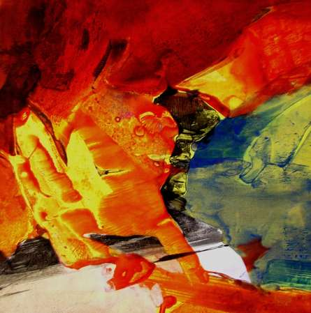 Abstract Acrylic Art Painting title 'Untitled 6' by artist Dnyaneshwar Ingle