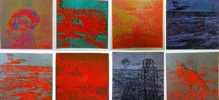 Durgaprasad Bandi | Figures In A Landscape Series 1 Printmaking by artist Durgaprasad Bandi | Printmaking Art | ArtZolo.com