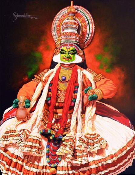 Figurative Acrylic Art Painting title 'Rubab 4' by artist Prashant Yampure