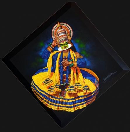 Figurative Acrylic Art Painting title 'Vishnu Nidra' by artist Prashant Yampure