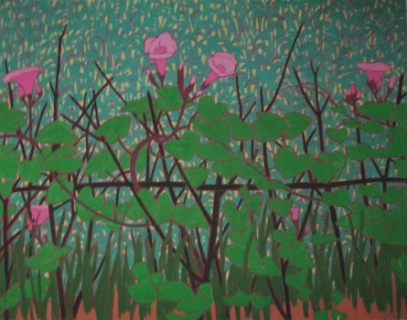 Untitled 3 | Painting by artist Sujit Das | tempera | Cloth