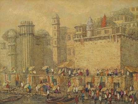 Banaras 10 | Painting by artist Yashwant Shirwadkar | oil | Canvas