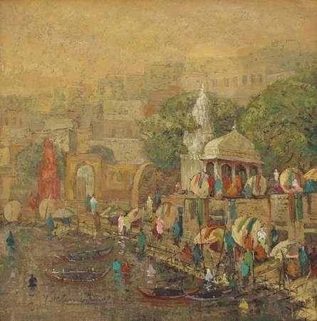Banaras 8 | Painting by artist Yashwant Shirwadkar | oil | Canvas