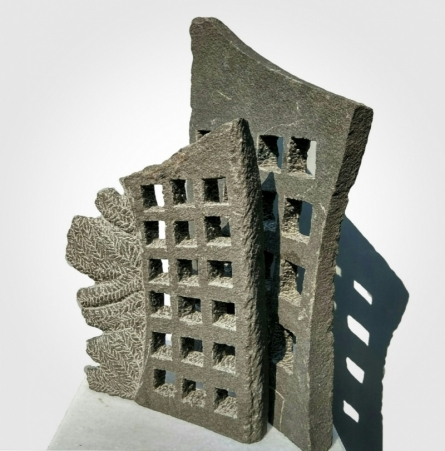Window 3 | Sculpture by artist Yogesh Lokhande | Stone
