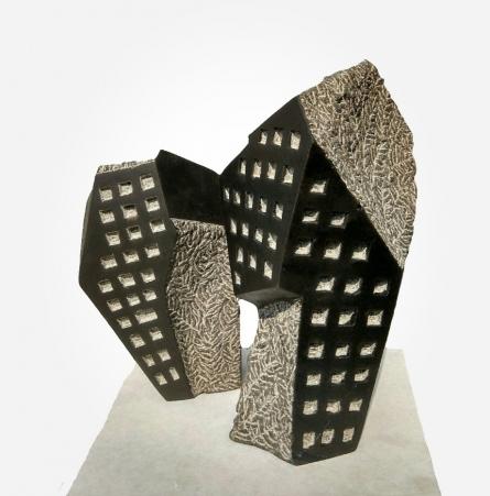 Yogesh Lokhande | Window 4 Sculpture by artist Yogesh Lokhande on Stone | ArtZolo.com