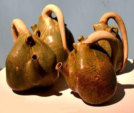 Tea Pot | Sculpture by artist Triveni Tiwari | Ceramic