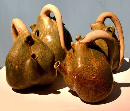 Tea Pot   Sculpture by artist Triveni Tiwari   Ceramic